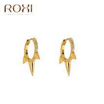 Personality Gothic Punk Stud Earrings for Women Men Unisex Rivet Spike E... - $10.30