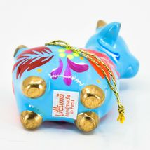 Handcrafted Painted Ceramic Blue Goat Country Farm Confetti Ornament Made Peru image 5