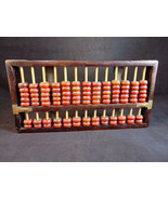 Decorative Wood and Brass ABACUS 10 Inch Long primitive beaded Calculator - $23.75