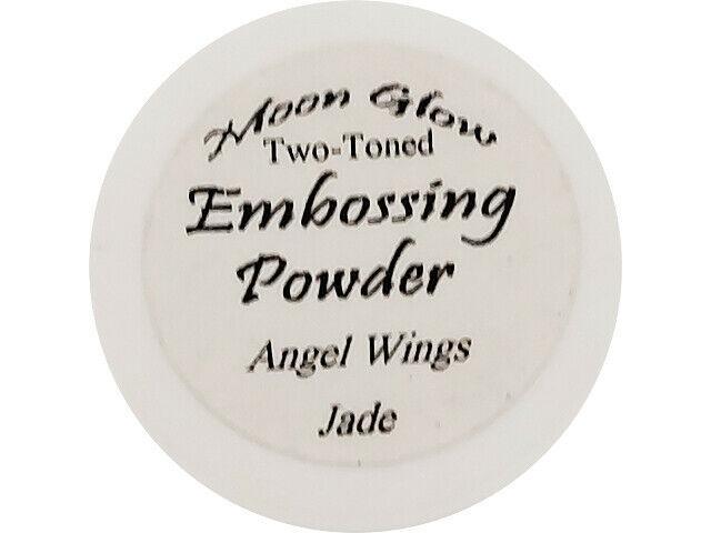 Moon Glow Two-Toned Embossing Powder Angel Wings Jade