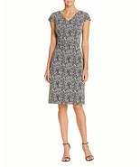 Betsey Johnson Abstract Print Sheath Dress, Silver, 10 - $35.22