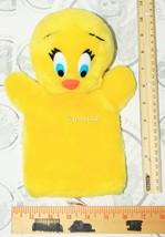 "Warner Bros Tweety Bird Plush Toy 11"" Hand Puppet Vintage Mighty Star 1990 Used - $5.23"
