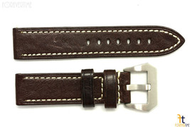 24mm Marrón Oscuro con Textura Cuero Correa para Reloj de Pulsera para Luminox - $41.74