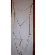 "Time And Tru Fashion Jewelry 18"" Necklace W 3"" Extender Gold W Stone - $10.88"