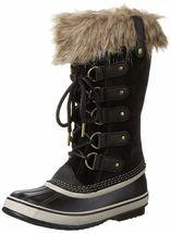 SOREL Women's Black/Stone Insulated Leather Joan Of Arctic Winter Snow Boots NIB image 4