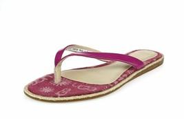 Ugg Australia 200293 Fuchsia Leather Flip Flops Size 8.5 - $39.59