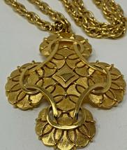 Vintage Mid Century 1960's Era Trifari Gold-Tone Necklace 19-412 - $28.45