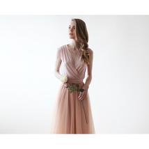 Pink Sleeveless Tulle Maxi Dress 1076 - $135.00+