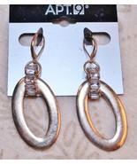 Apt 9 Gold Tone Rhinestoned Drop Dangle Earrings - $9.89