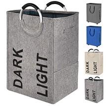 Prodigen Double Laundry Hamper Bag with Handle Easily Transport Foldable... - $23.60