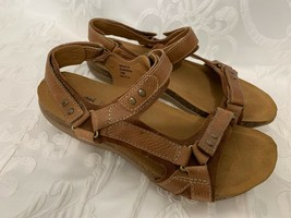 KALSO Earth Shoe Sandals MARCH Brown Leather Size 10 - $31.49