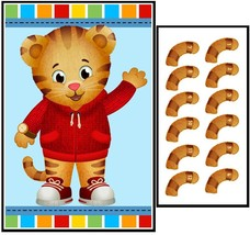 Birthday Party Game – Pin the Tail on Daniel Tiger Blue - ₨1,418.80 INR