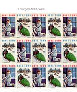 Boys Town Christmas Seals Sheet 1962 Boy Window Pane Star Tree Art 50 Seals - $14.99