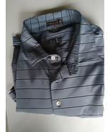 Men's golf shirt size XXL gray and black by Peter Millar short sleeve co... - $52.00
