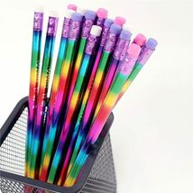 Pencil Rainbow Wood Environmental Protection Bright Color School Office Writing image 3