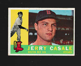 1960 Topps Baseball Card # 38 Jerry Casale Boston Red Sox EX- - $1.50