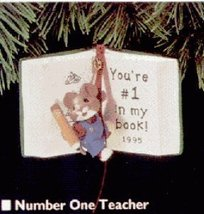 Hallmark Keepsake Ornament Number One Teacher 1995 - $7.91