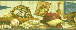 Blue Cooperstown Baseball Hat Bat Shelf Wallpaper Border 5815120 - $16.99