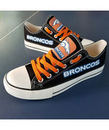 broncos shoes womens converse style broncos sneakers denver fans birthda... - $55.00+