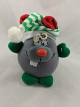 """Gray Mouse Plush Christmas Stocking Hat 6.5"""" MTY International Stuffed A... - $12.95"""
