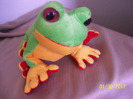 "plush green tree frog reptile ganz stuffed animal 8"" NO CODE - $19.80"