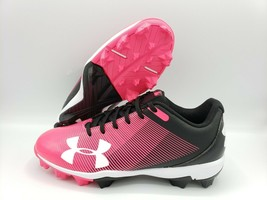 Under Armour Leadoff RM Baseball Cleats Pink Black White Youth (Multiple Sizes) - $23.99