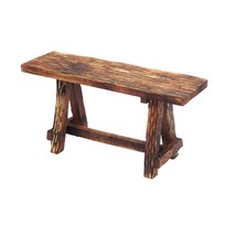 Wooden Garden Patio Bench With Retro Etching, Cappuccino Brown - £86.45 GBP