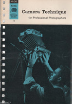 Kodak Camera Technique for Professional Photographers Book - $4.00