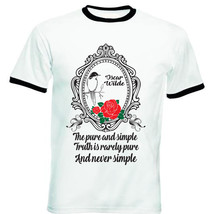 Oscar Wilde The Truth - New Black Ringer Cotton Tshirt - $27.47