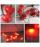 String of 10 Indoor Outdoor Cute Red Crab Lights 8.5FT  - TESTED and WORKS! - $24.99