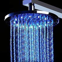 12 inch Brass Shower Head with Color Changing LED Light (Round) - $216.81
