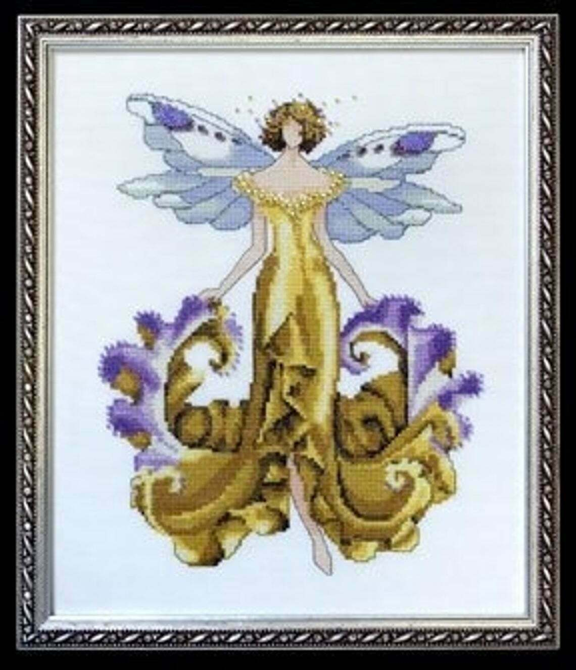 """Chart and Embellishment + SPECIAL THREADS """"IRIS NC125"""" by Nora Corbett - $24.74"""