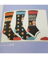 Super Mario Bros Nintendo Crew Socks 3 Pair Pack Men's Shoe Size 8 to 12... - $11.68
