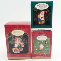 3 Club Member Santa Elves Elf Vtg Christmas Tree Keepsake Ornament Lot I... - $15.81