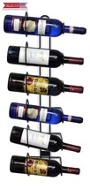 Sorbus Wall Mount Wine Rack – Holds 6 Bottles of Wine or Champagne - $23.92
