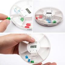 7 Day Weekly Pill Box Case Timer Alarm Clock Reminder Medicine Storage D... - $106,14 MXN