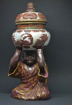 Chinese Pottery Figural Incense Burner ~ 11.5 Inches tall - $84.14