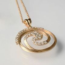 925 Silberne Halskette Laminat Gold Gelb,Rhodiniert By Maria Ielpo Made in Italy image 3