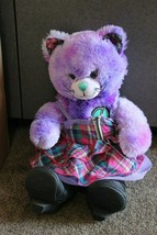 "Build A Bear Kitty Cat BFF Plush Purple Tie Dye 17"" PEACE SIGN boots dress lot - $10.00"