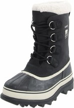 Sorel Women's Waterproof Leather and Suede Black/Stone Caribou Winter Boots NIB image 2