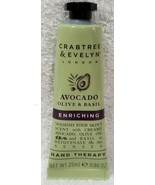 Crabtree Evelyn AVOCADO OLIVE BASIL Hand Therapy Enriching Skin .86 oz/2... - $12.03