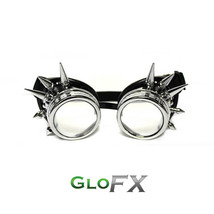 GloFX Chrome Spike Diffraction Padded Goggles Exterior Glass Lens for Protection - $29.99+