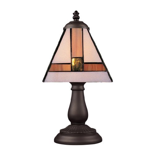 Elk 080-Tb-01 Mix And Match Symmetrical Tiffany Table Lamp, Bronze