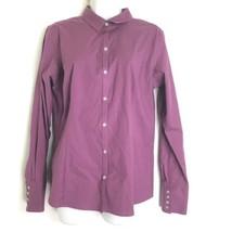 eddie bauer stretch wrinkle resistant long sleeve purple blouse women's Size L - $19.79