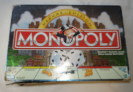 Monopoly Deluxe Edition Parker Brothers box is damaged board game Pre Owned - $26.57