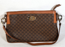 Celine Womens Leather Monogram Brown Small Purse Shoulder Bag Handbag - $668.25