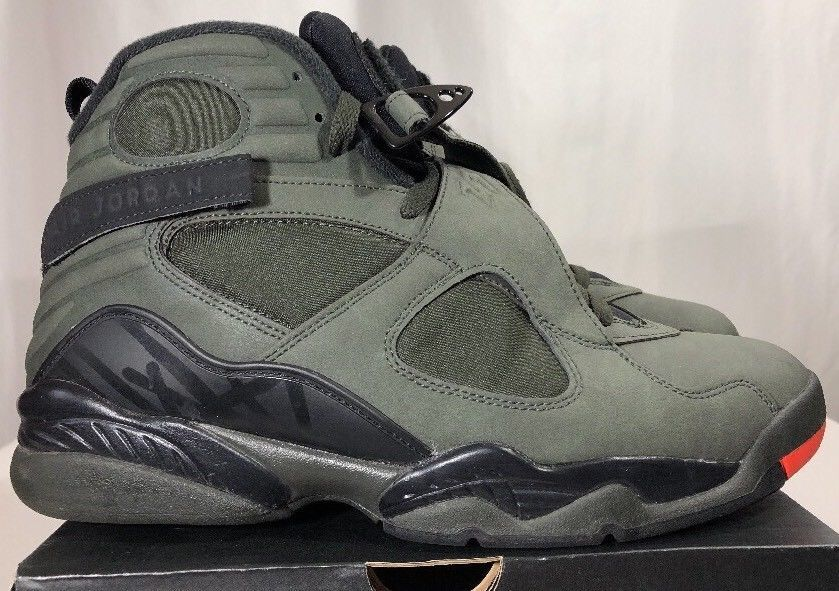 outlet store 50732 0ba40 ... Nike Air Jordan Retro 8 VIII Sequoia Men s 10 w Box Undefeated Aqua  Bred ...
