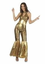 Disco Overall Buchse Gold, Damen, 60S/70S/Hippie, Kostüm - $32.33