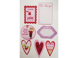 Love and Valentine's Day Cardstock Ephemera, 58 Pieces