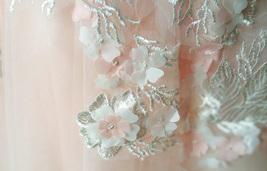 Blush Sleeveless Lace Tulle Flower Girl Dress Toddler Blush Princess Dress NWT image 6